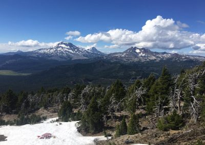 View from the top of Mt. Bachelor in Bend, Oregon